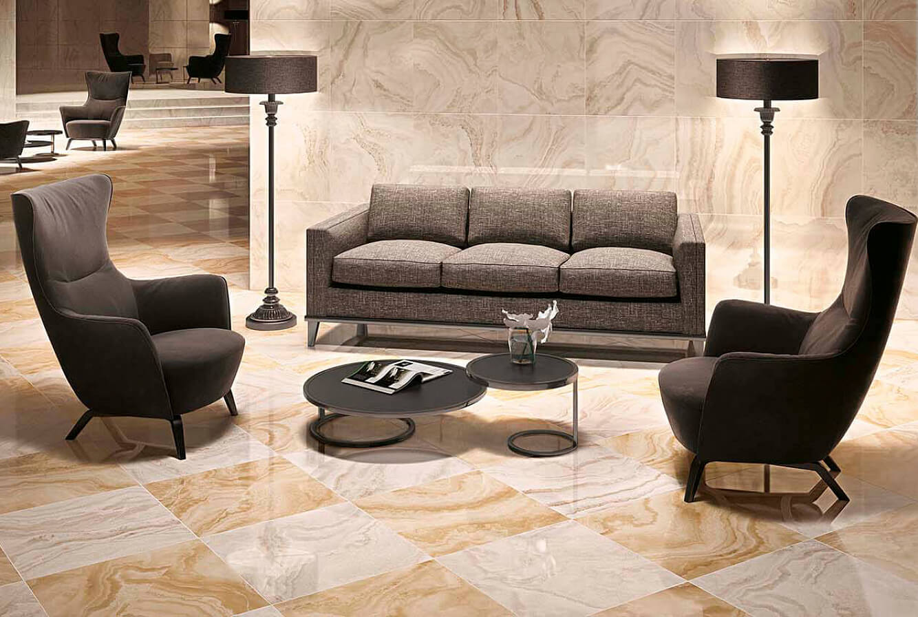 Керамогранит Atlas Concorde Russia Supernova Onyx 610015000450 Honey Amber Lap 60x120