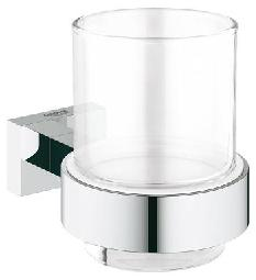 Стакан с держателем Grohe Essentials Cube 40755001